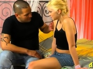 Vice teen playgirl gets her virgin slit played and screwed