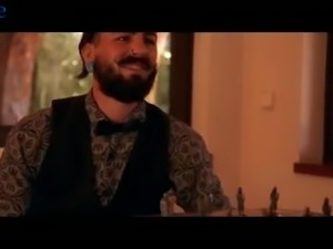 Bearded dude with ear tunnels gets a good blowjob from Silvia Nubi