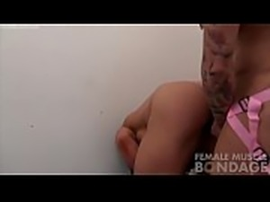 Two Female Bodybuilder Porn Stars Fuck With A Strap On Dildo