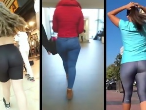 Jeans and spandex ass dance