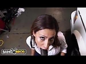 BANGBROS - Young Jade Jantzen Craves The Mechanic&#039_s Big Black Dick