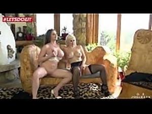 LETSDOEIT - Horny Teens Gang banged Hardcore By Big Cock Studs (Cathy Heaven...