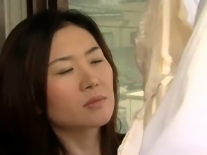 Lustful Japanese wives enjoy the pleasures of hardcore sex