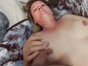 Milf licking tits