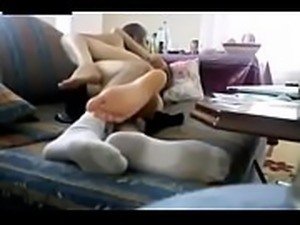 I and my dad watch TV together but daddy is so horny today- see more video...