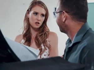 Ardent pianist Ashley Lane is eager to ride strong cock for orgasm