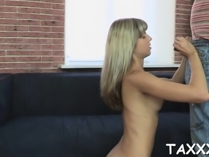 Dissolute blonde girlie Angie Koks cannot get enough