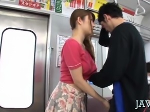 Mindblowing oriental hotty sucks one-eyed monster and balls