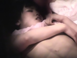 Petite asian teen rubs