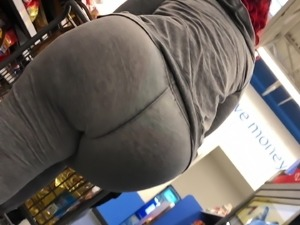 Huge Jungle Booty Ebony See Through Thong VPL Preview
