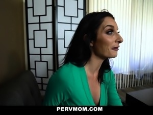 PervMom - Busty MILF Riding Her Sons Big Cock