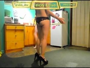 Sexy webcam girl in black panties