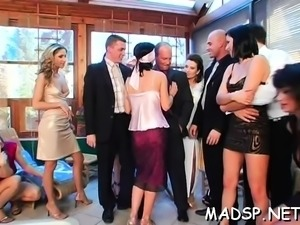 Lewd sex party full of gorgeous babes