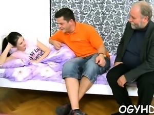 Appetizing russian diva cums from huge stick