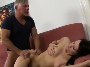 Teen with sexy butt sucks