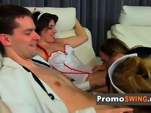 Swinger amateur lady shares her husband.