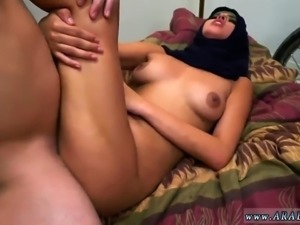 Arab muslim girl cock sucking and big tit belly he found a l